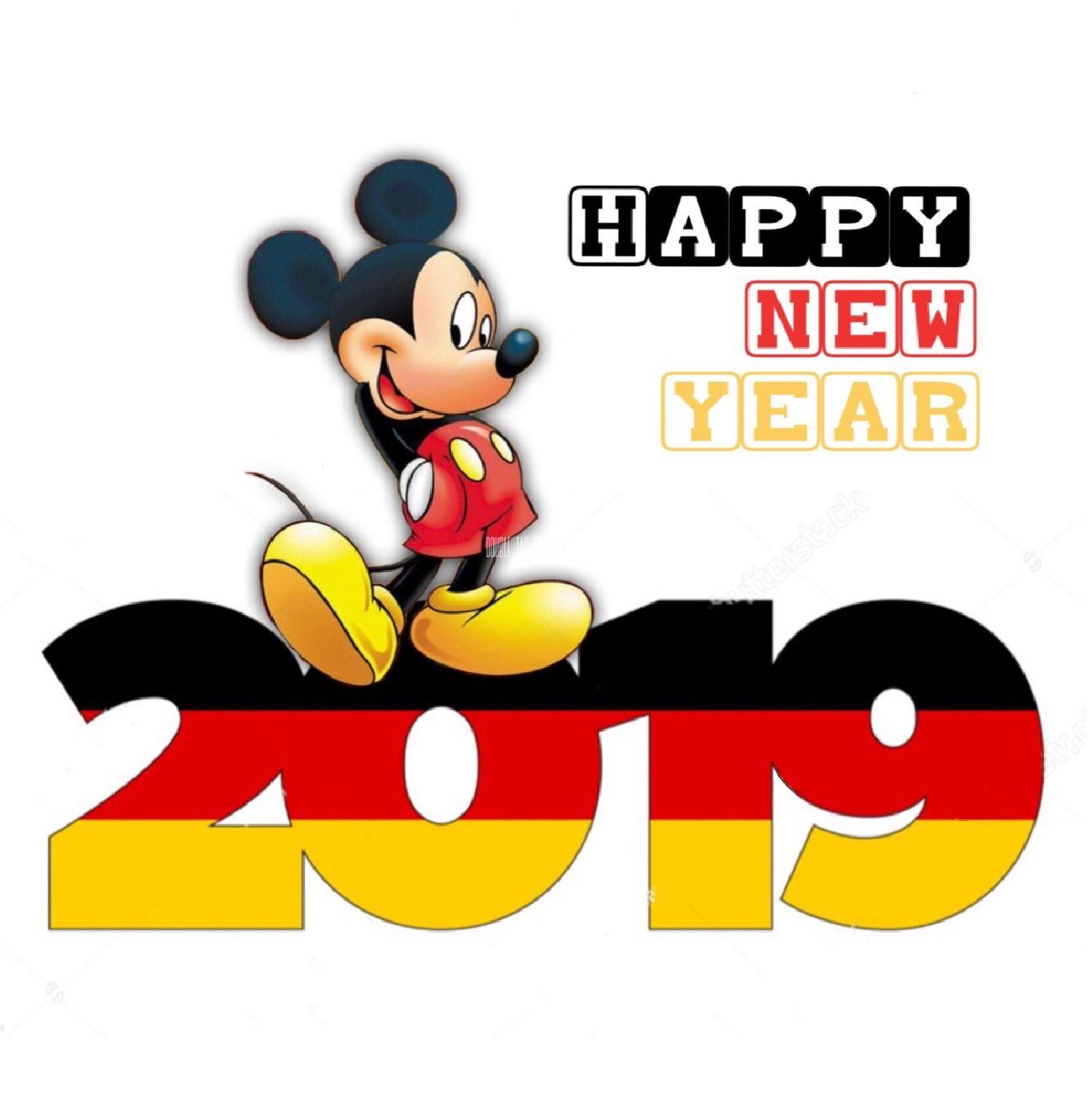 Happy new year 2019 mickey mouse Mickey mouse, Happy new