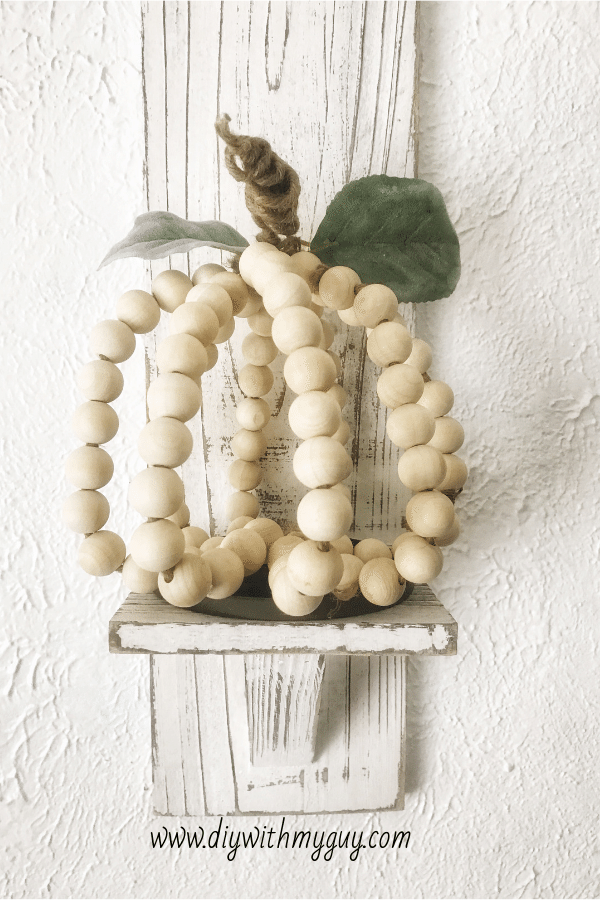 Photo of DIY Wood Beaded Farmhouse Pumpkin – DIY With My Guy