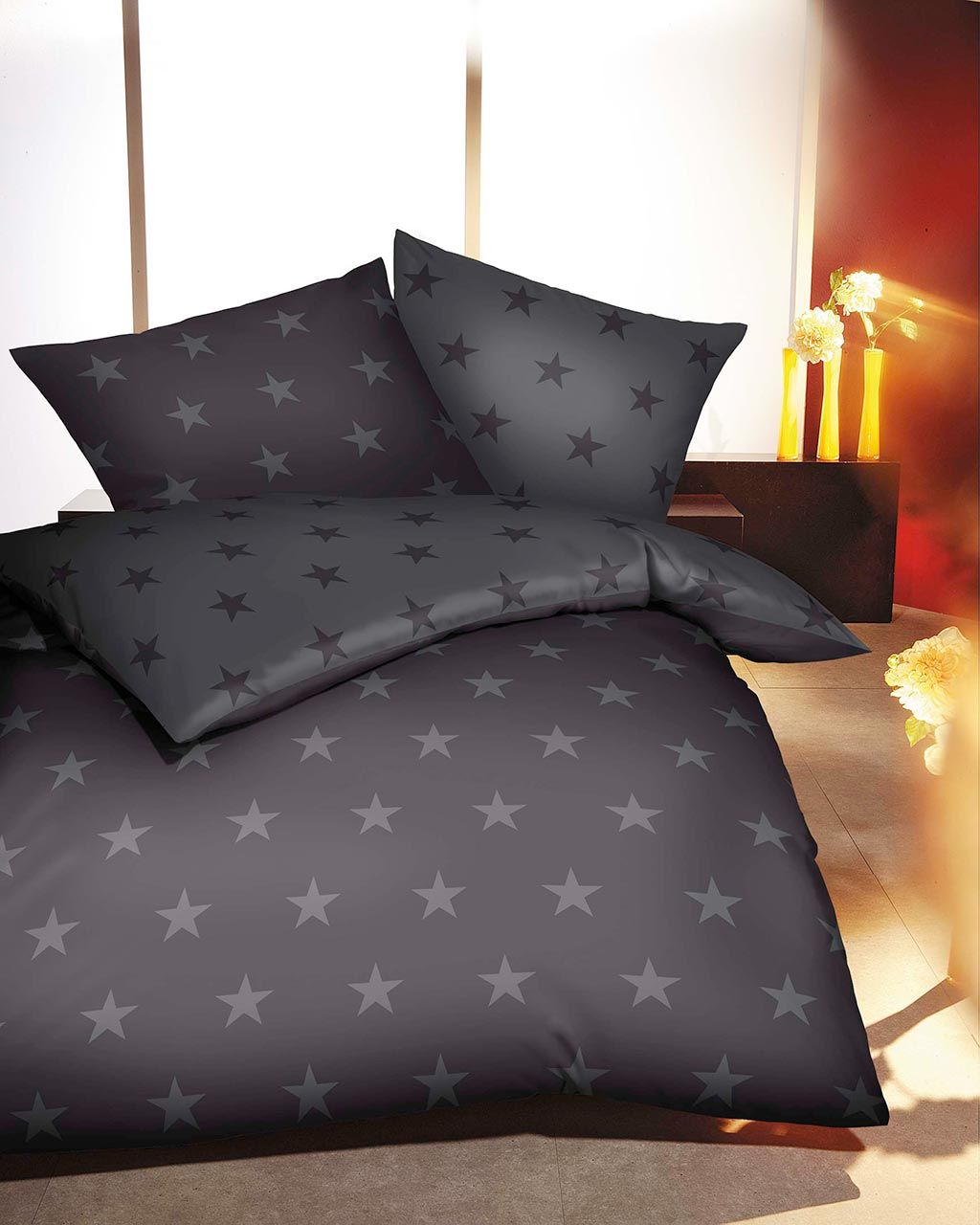 kaeppel biber bettw sche stars zinn diese wendebettw sche von kaeppel f r den winter zieht alle. Black Bedroom Furniture Sets. Home Design Ideas