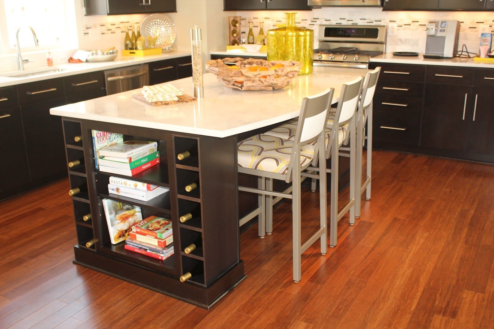 Kitchen Island Table With Wine Rack