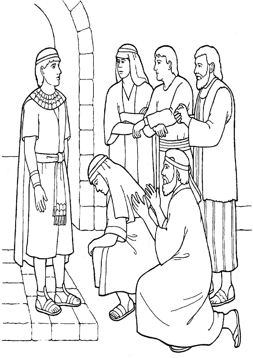 Free Bible Coloring Pages Joseph In Egypt Bible Coloring