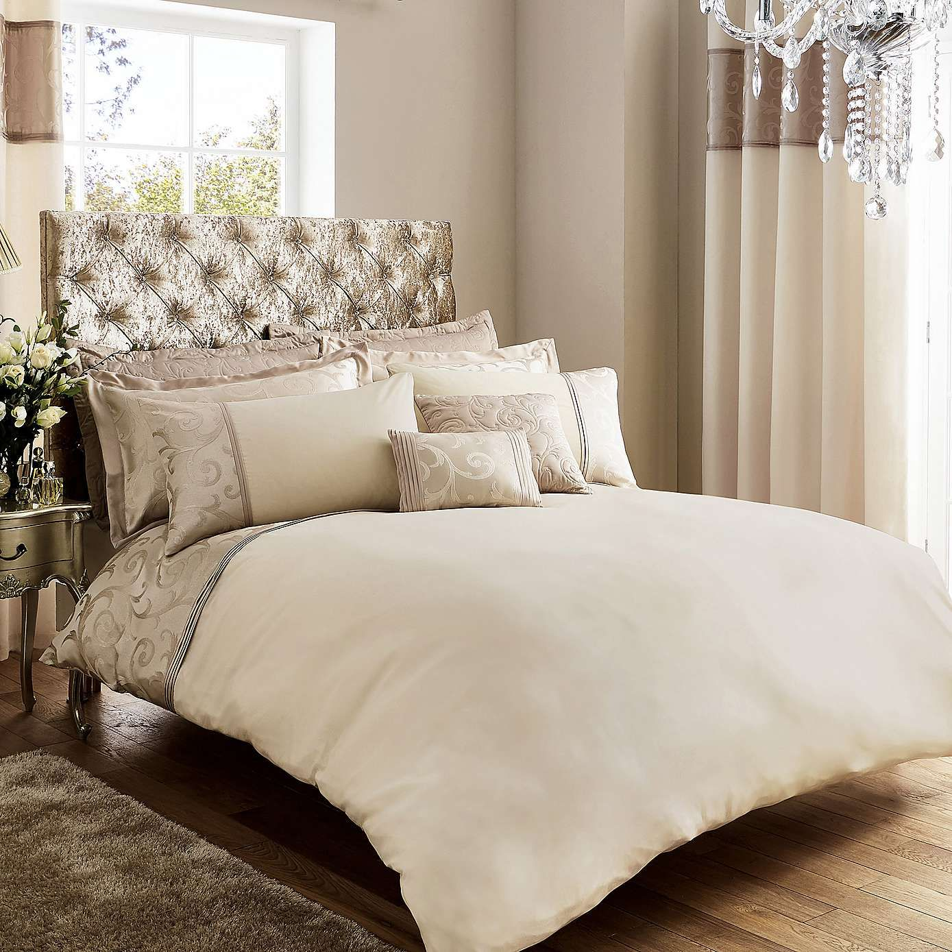 Bardot Cream Duvet Cover and Pillowcase