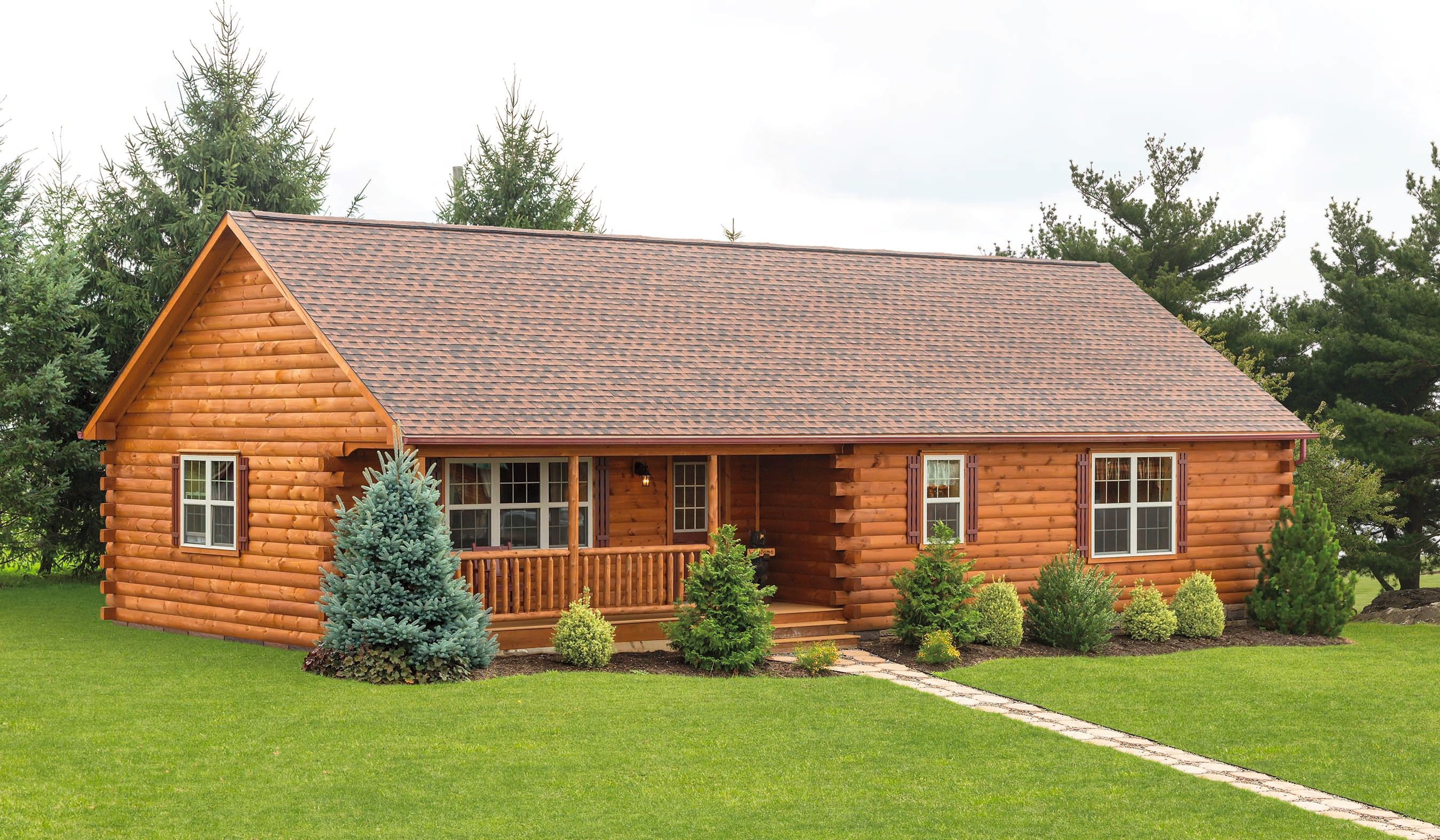 The Frontier Log Cabin Is One Of Our Most Popular Single Story Styles Among Families And Hunters View Our Prefab Log Cabins Log Cabin Plans Log Home Builders