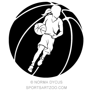 Basketball Girl Dribble In Basketball Sportsartzoo Basketball Girls Basketball Wall Art Basketball Design