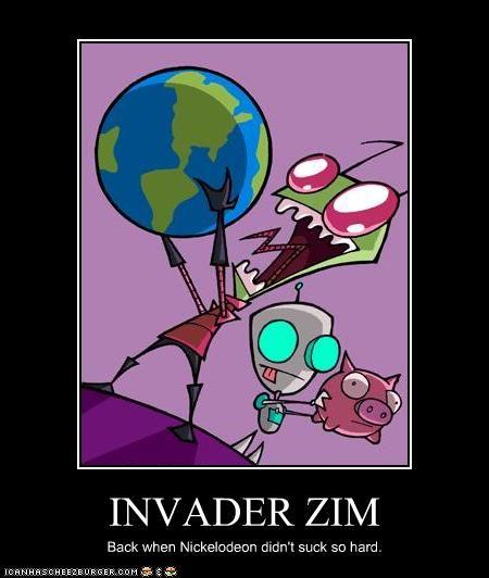 Invader Goes Crazy Gir Zim