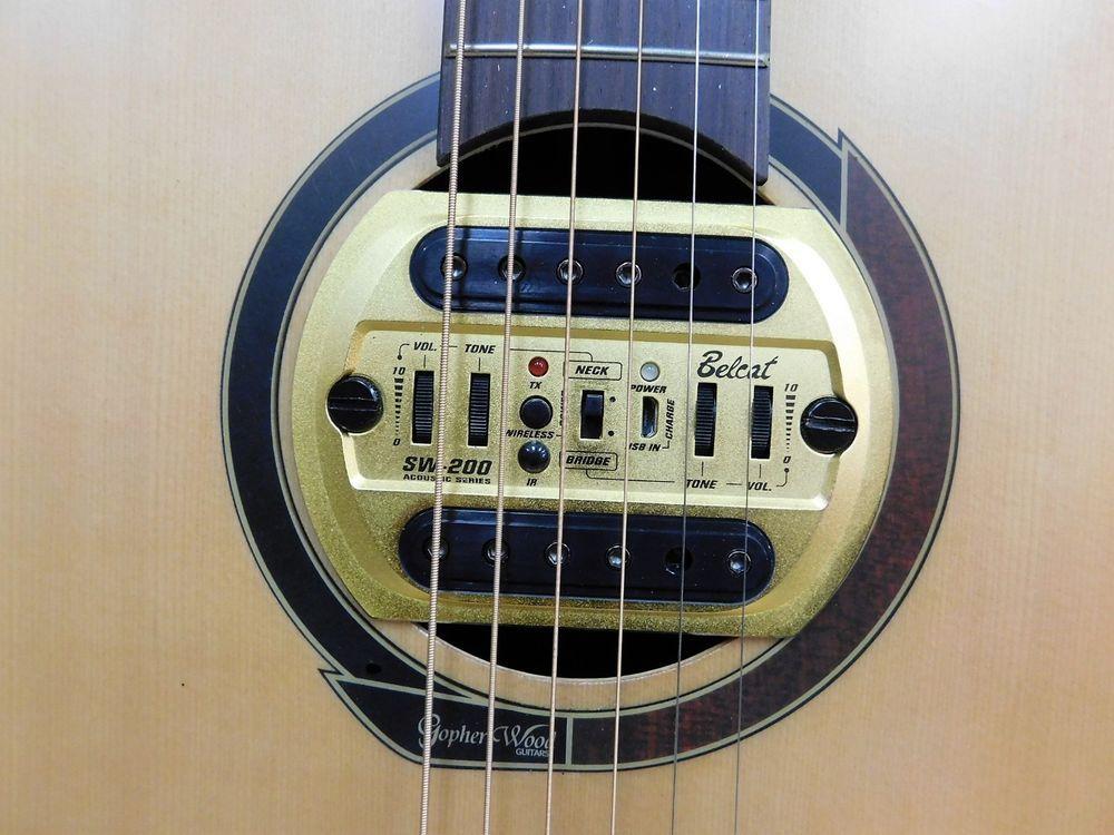 Belcat Sw200 R1 Wireless Magnetic Sound Hole Pickup System For Acoustic Guitar Guitarra Semi Acustica Guitarra Eletronica