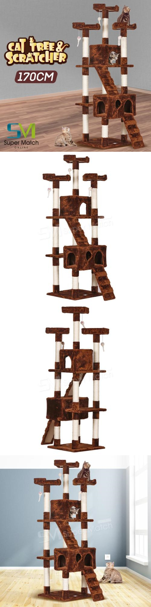 Animals Cats: Pet Scene 67 Cat Tree Tower Condo Furniture Scratch Post  Kitty House Play