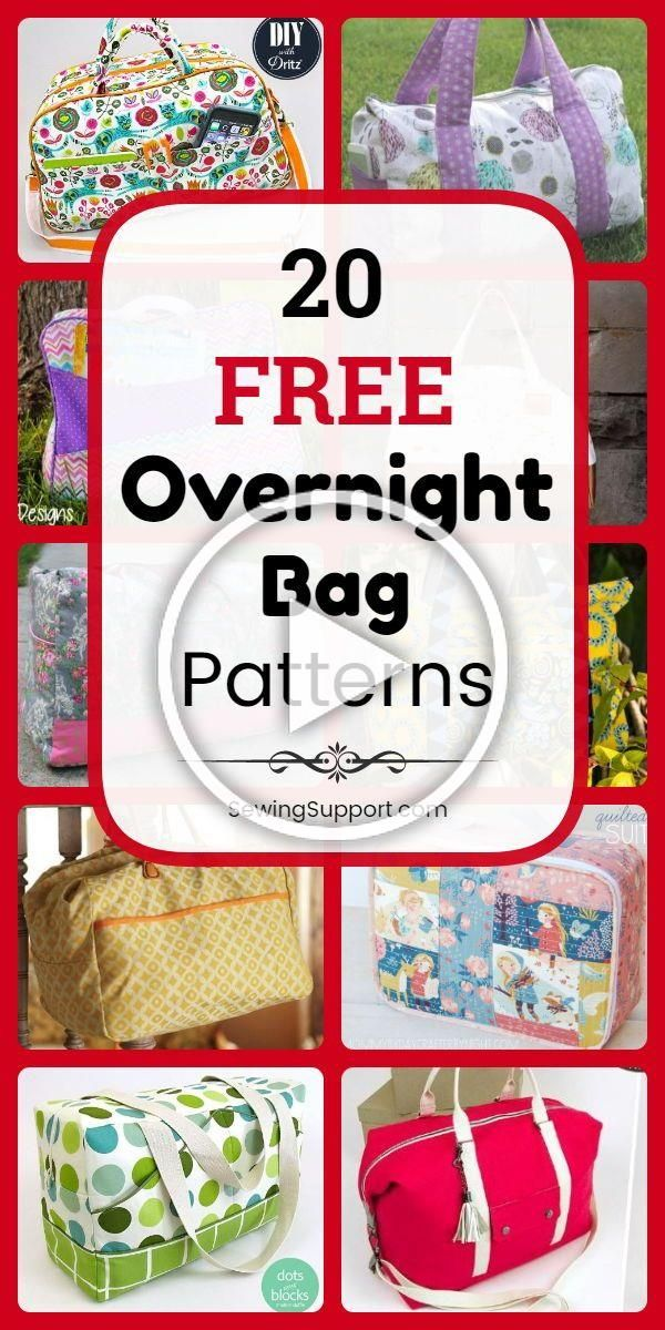 Bag Patterns to sew 20 free overnight travel and weekender bag sewing patterns tutorials and diy projects Sew large overnight travel bags that can also be used as duffle...