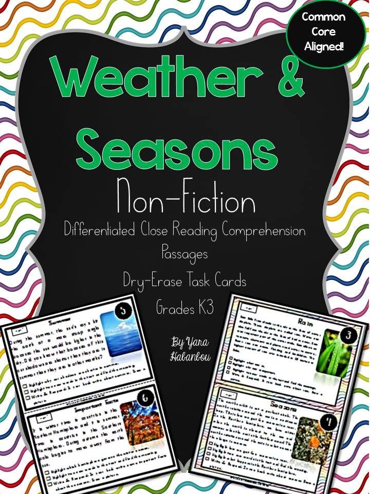 weather seasons reading passages nonfiction comprehension weather and esl. Black Bedroom Furniture Sets. Home Design Ideas