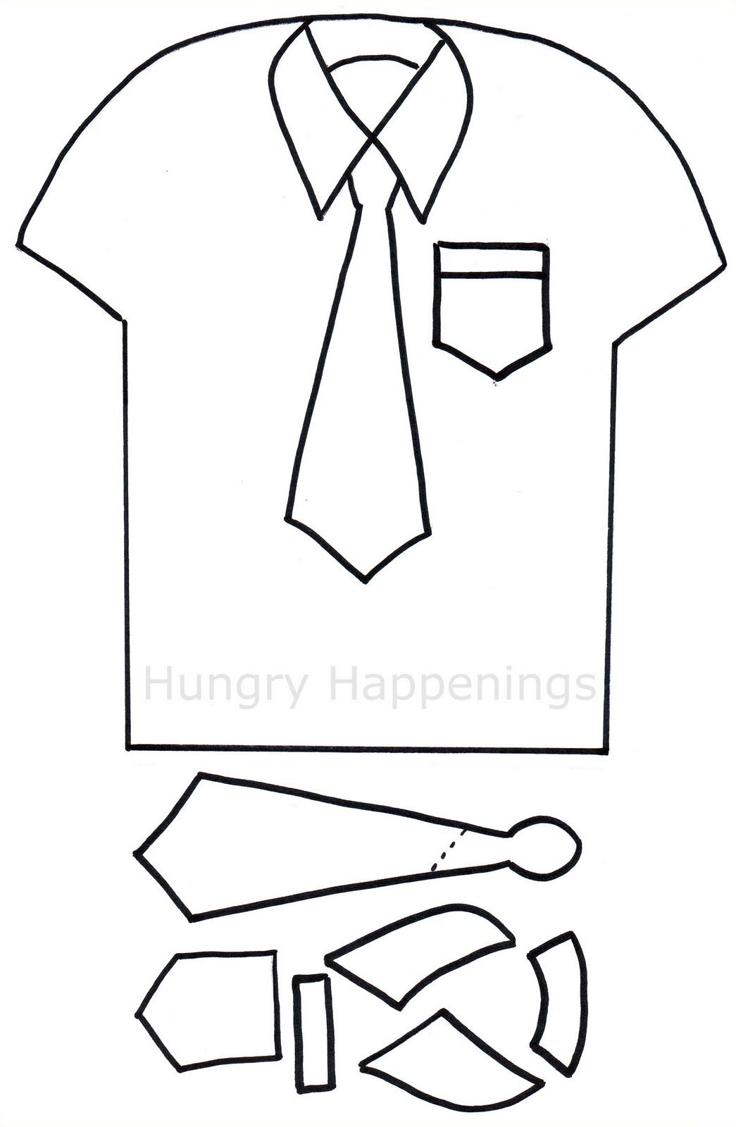 Shirt And Tie Pizza Hungry Happenings Father S Day Tie Template Father S Day Card Template Fathers Day Cards