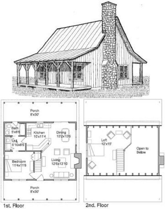 Micro Cottage Plans Free With Best 400 Farm H 5128 Design Ideas House Plan With Loft Vintage House Plans Loft Floor Plans