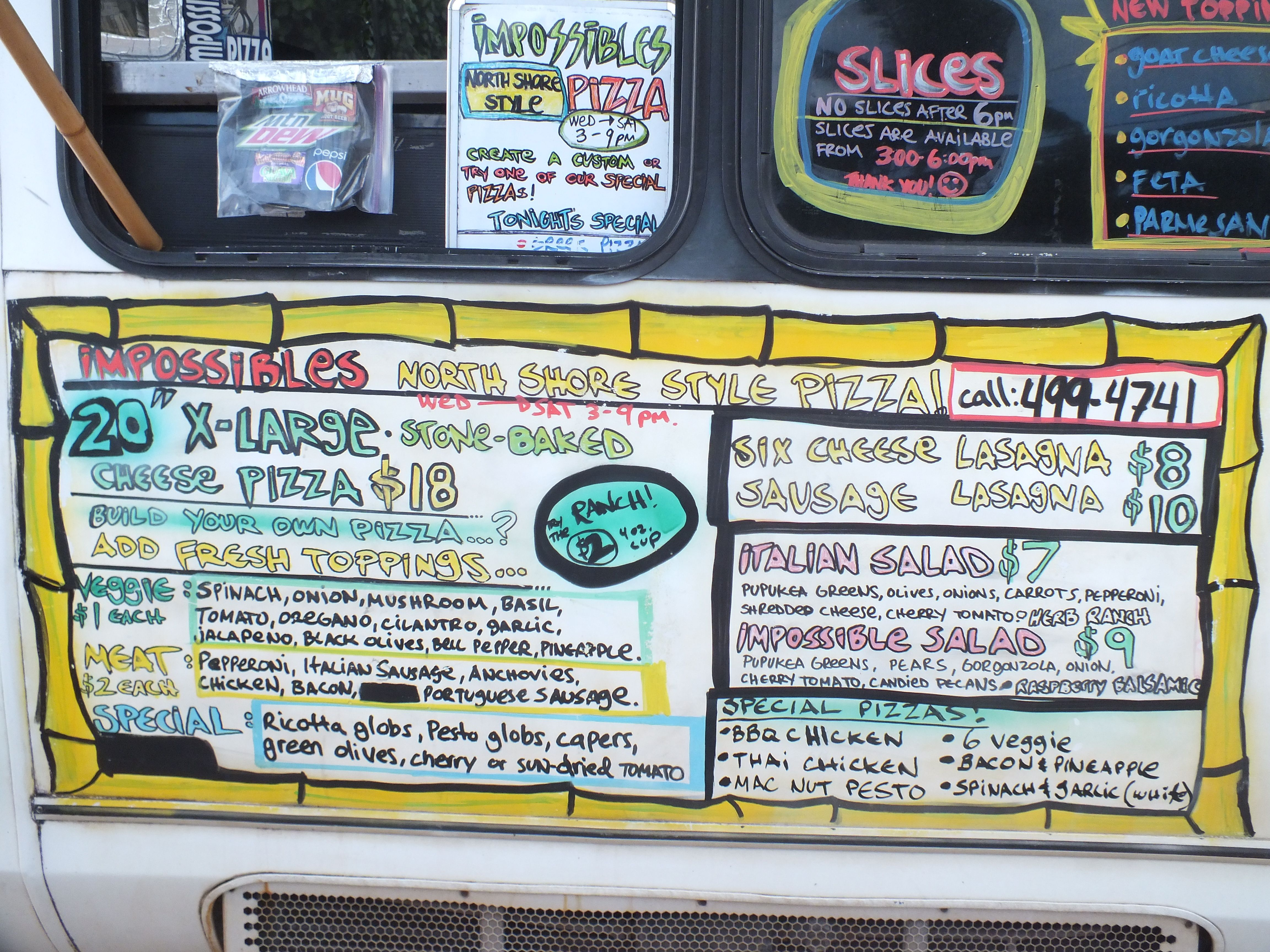 Oahu Food Trucks Map