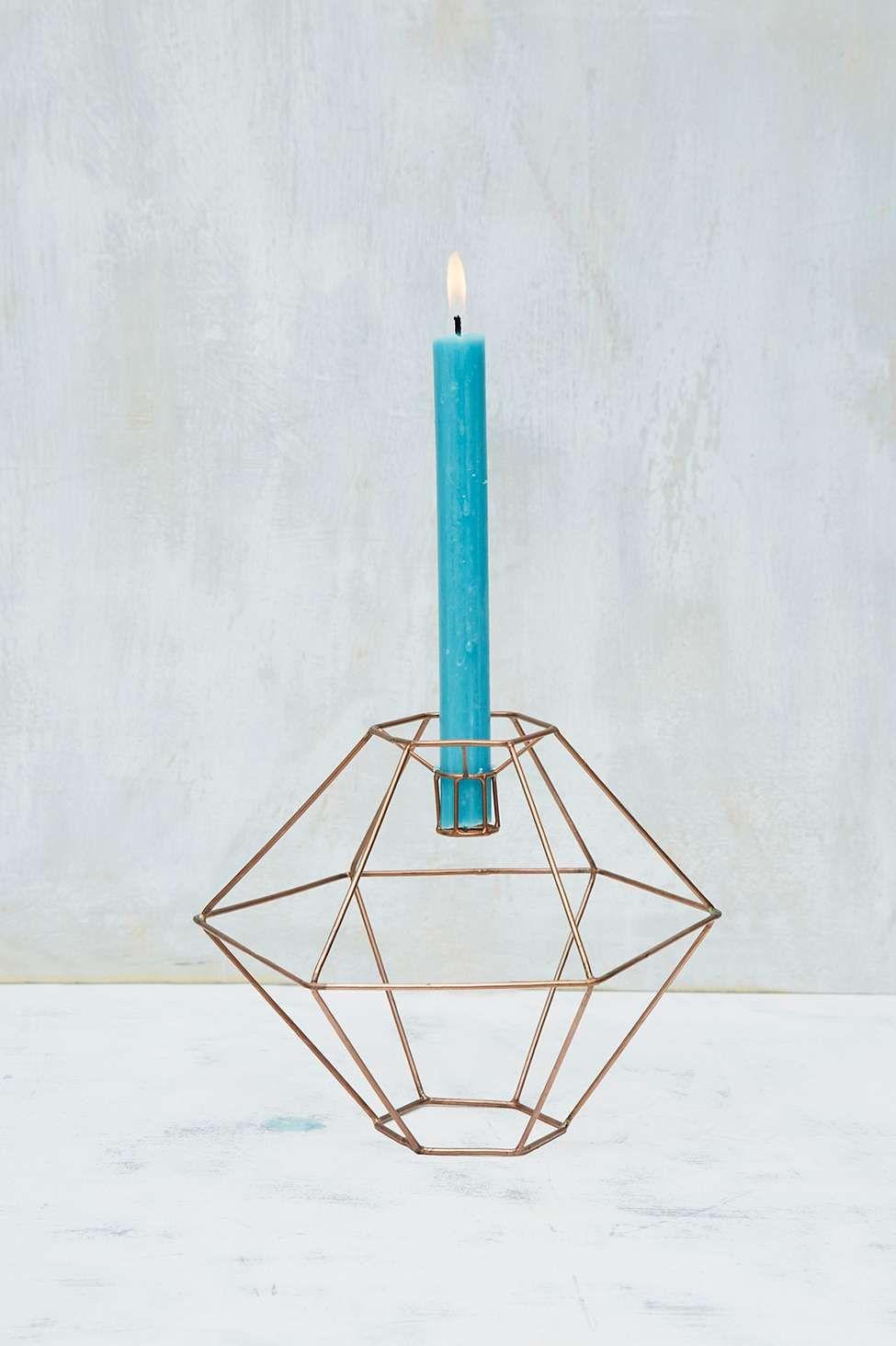 Kuppelförmiger Kerzenständer aus Kupfer