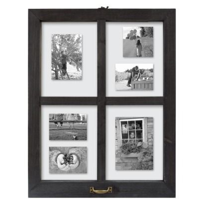 Threshold Windowpane Multiple Image Frame 5x7 Black 28 Collage Frames Window Frame Picture Gallery Wall