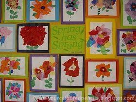 Use Your Coloured Pencils Tissue Paper Flower Collages Spring