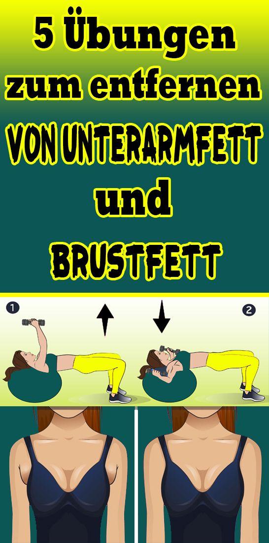 5 Übungen zum Entfernen von Unterarmfett und Brustfett #fitnesschallenges