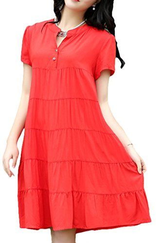 Youhan Women's Summer Short Sleeve Cotton Fit Dress Small... https://www.amazon.com/dp/B00ZNQ7Z4U/ref=cm_sw_r_pi_dp_x_pt9bybVMKZ1R4