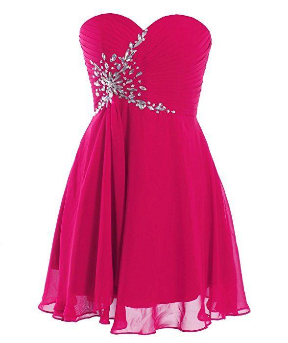 Fashion Plaza Short Strapless Sweetheart Prom Dress Crystal