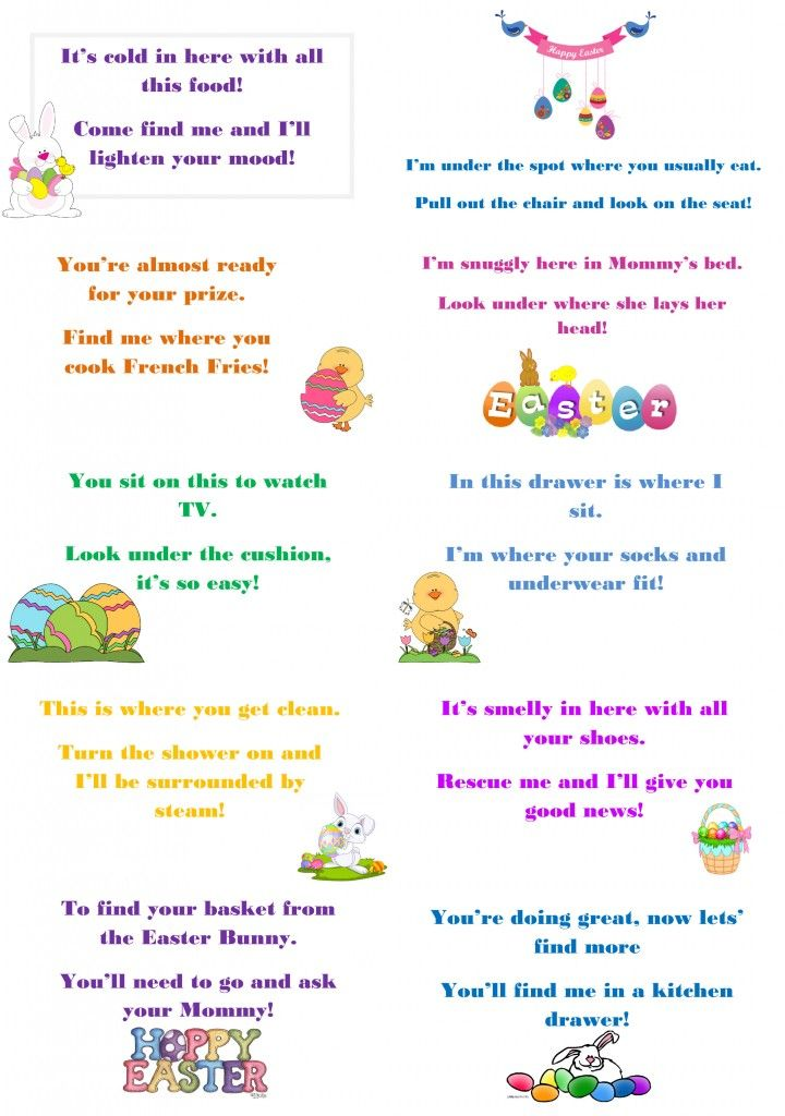 Make This Easter Egg Stra Special With Egg Hunt Riddles !