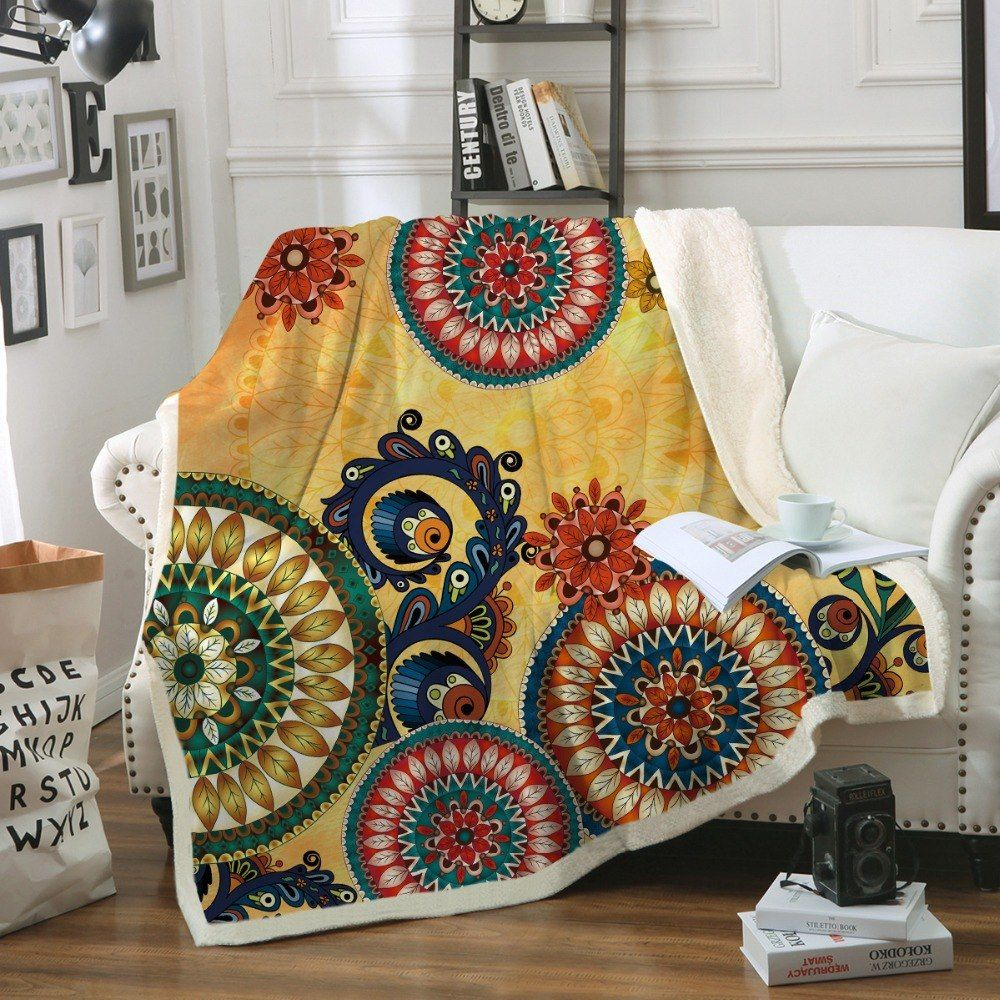 Beddingoutlet Geometric Printed Throw Blanket Bedspread Southwest Native American Sherpa Bed Sofa Blanket Aztec Bedding 130x150 With Images Throw Blanket Sofa Blanket Aztec Bedding