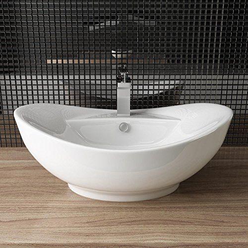 Design Keramik Waschtisch Aufsatz Waschbecken Waschplatz Fur