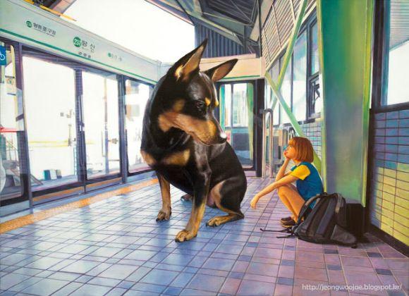 日常空間にたたずむ少女と巨大な犬。現実世界ではありえない光景なのに、やけにリアルで現実的。しかしマジカルで不思議な雰囲気が漂う独特な世界観。  本日ご紹介したい …