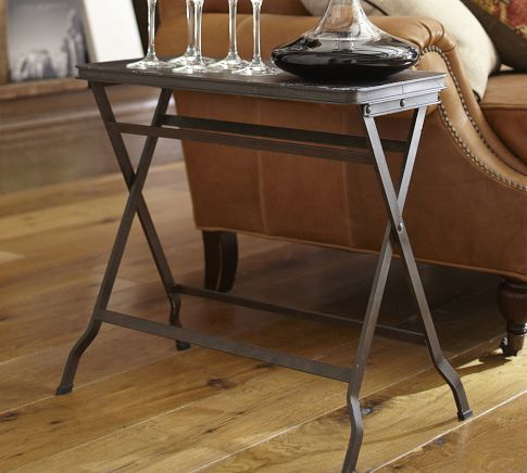 End table 13 wide carter metal folding tray table for Table open cache efficiency 99