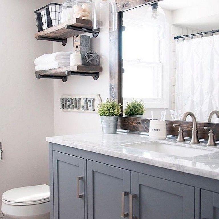 80 Good Modern Farmhouse Master Bathroom Remodel Ideas