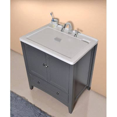 Features This All In One Single Laundry Sink Vanity Embellished
