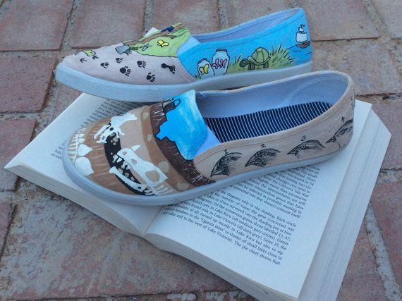 f24b56dfd4147 Darwin Custom Hand-Painted Shoes // Vans or Standard Shoes | Etsy ...
