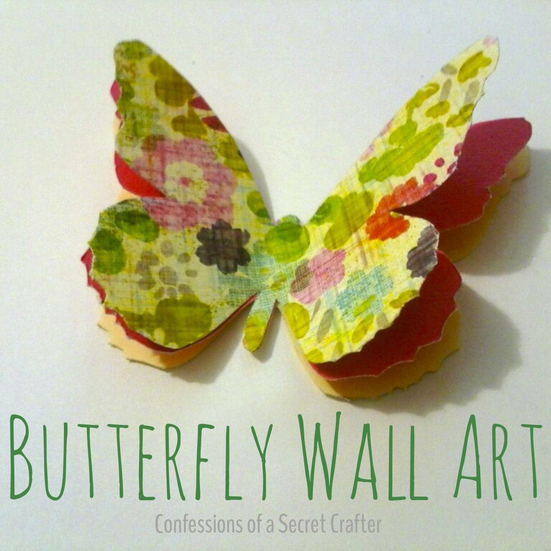 3-D butterflies as wall art! | Today\'s Craft and DIY Ideas ...