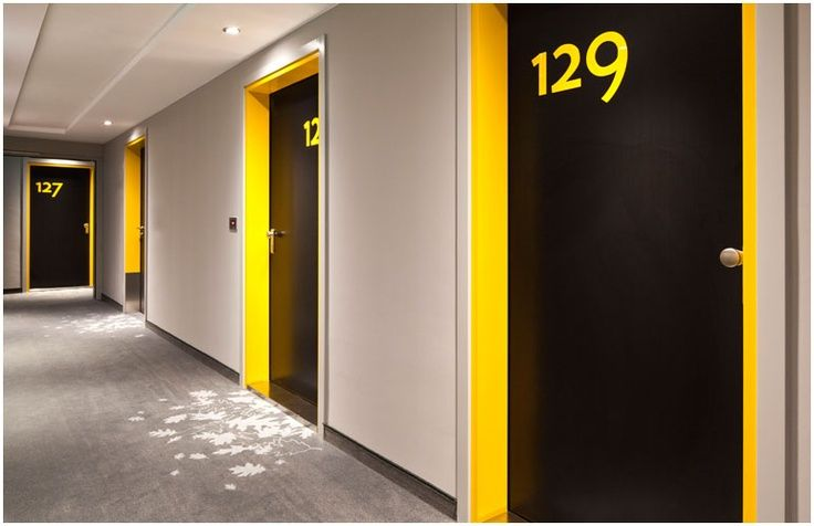 corridor lighting and signage