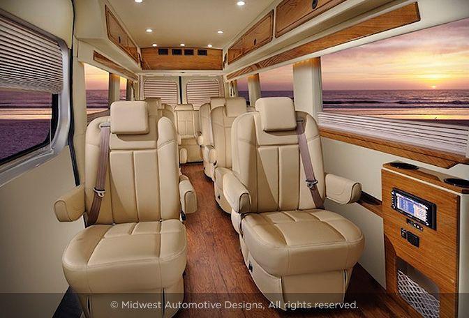Luxury sprinter conversion vans sprinter conversions for Mercedes benz sprinter custom interiors