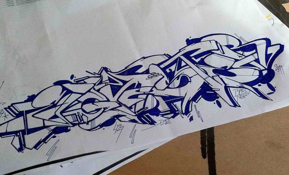 Graffiti Art Sketches With Color