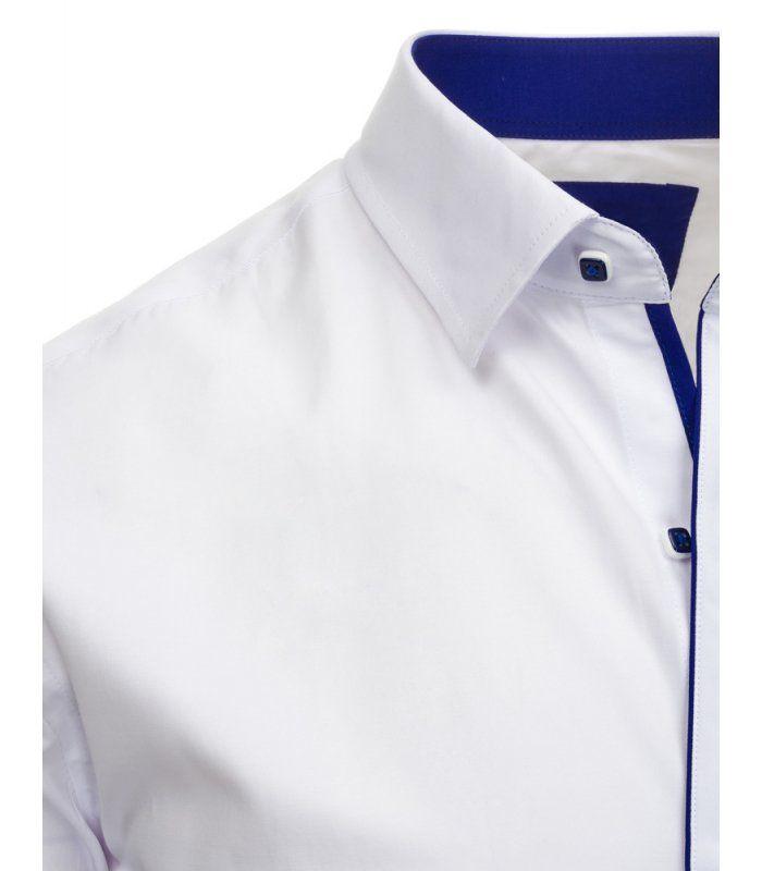 4fa545680688 Pánska biela elegantná košela s krátkym rukávom
