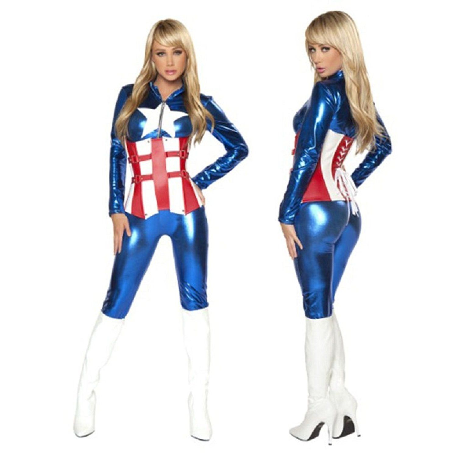 Mocoeke Women's Halloween Cosplay Woman Warrior Blue Dress ** Want to know more, click on the image.