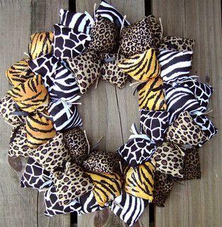 Photo of Animal Print Fabric Wreath