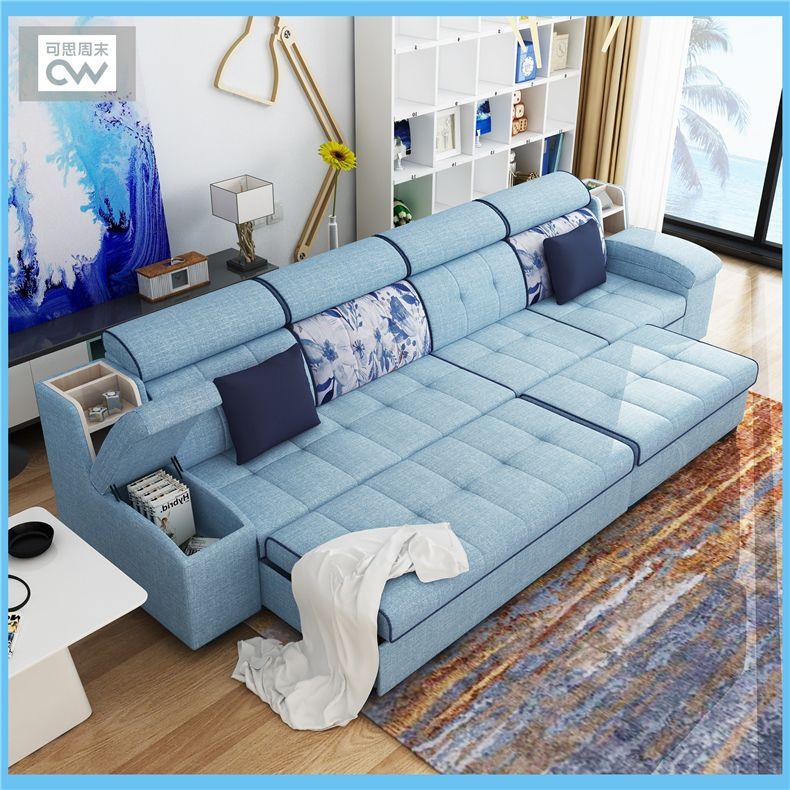 Linnen Stof Slaapbank Woonkamer Meubelen Couch/fluwelen Doek Slaapbank  Woonkamer Slaapbank Sectionele Multifunctionele