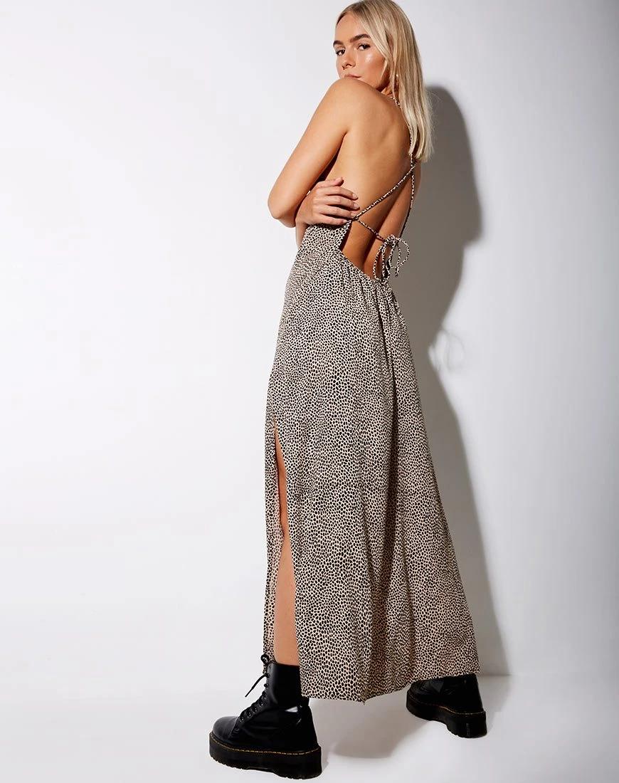 Hian Maxi Dress In Mini Croc Tan Maxi Dress Printed Maxi Dress Maxi [ 1100 x 870 Pixel ]