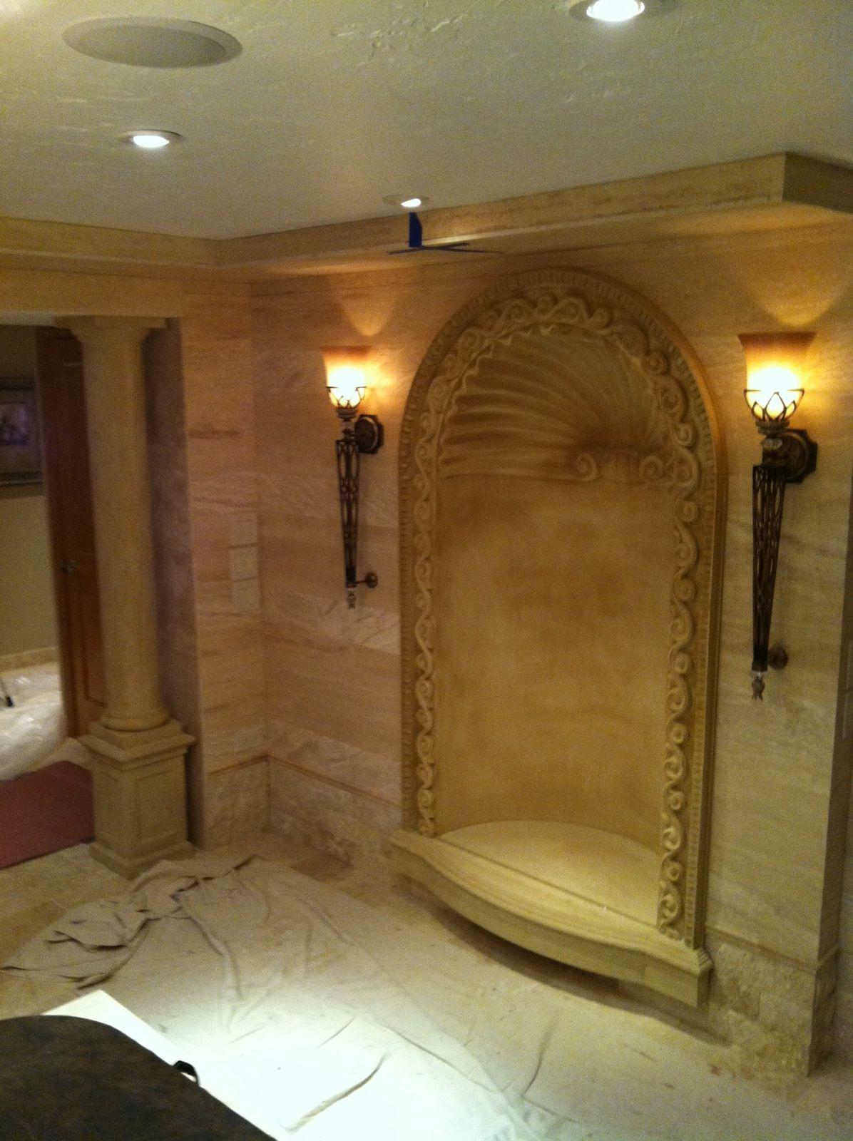 custom wall niche cast stone spa project precast decorate picture artisan kraft decor ideas. Black Bedroom Furniture Sets. Home Design Ideas