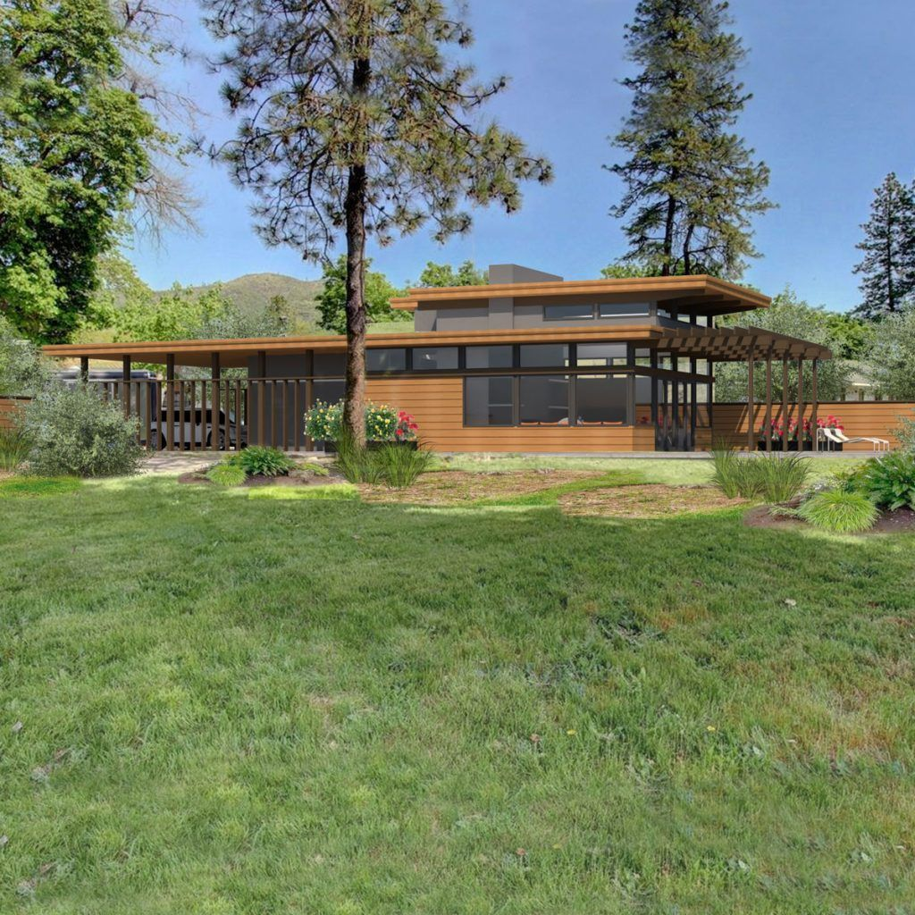 Usonian House Plans Inspired By Architect Frank Lloyd Wright Usonian House Prairie Style Houses Frank Loyd Wright Houses