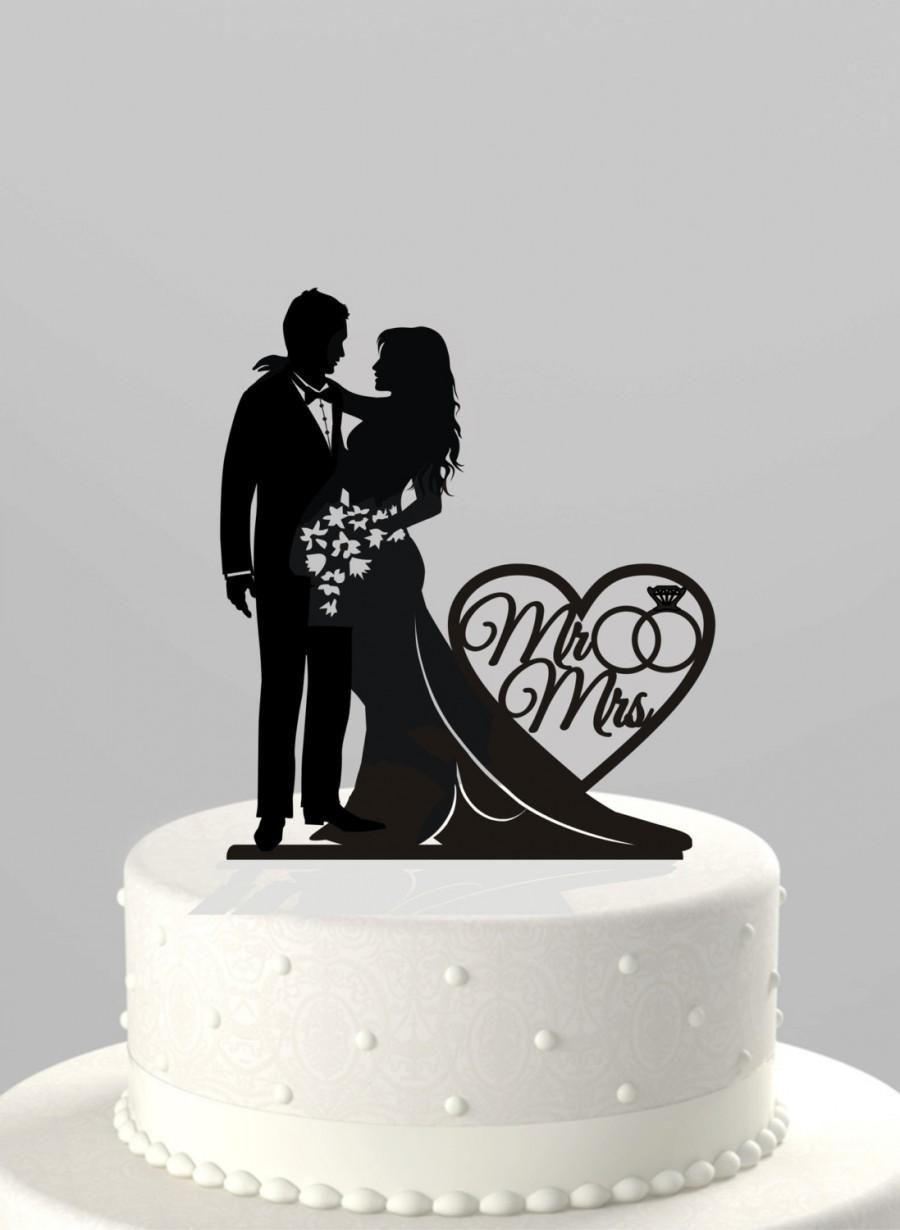 wedding topper bride and groom Custom Silhouette Cake Topper  wedding silhouettes  anniversary gift  decor cake topper