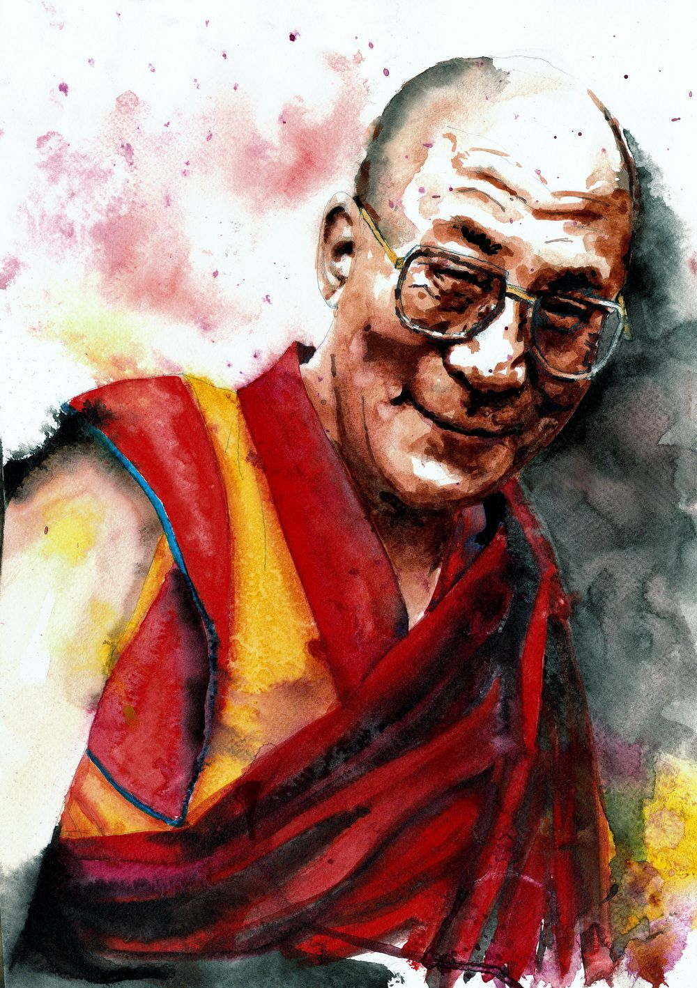 Living the Compassionate Life His Holiness the 14th Dalai Lama, Tenzin  Gyatso As human beings we all have the potential to be happ… | Art,  Buddhist art, Dalai lama