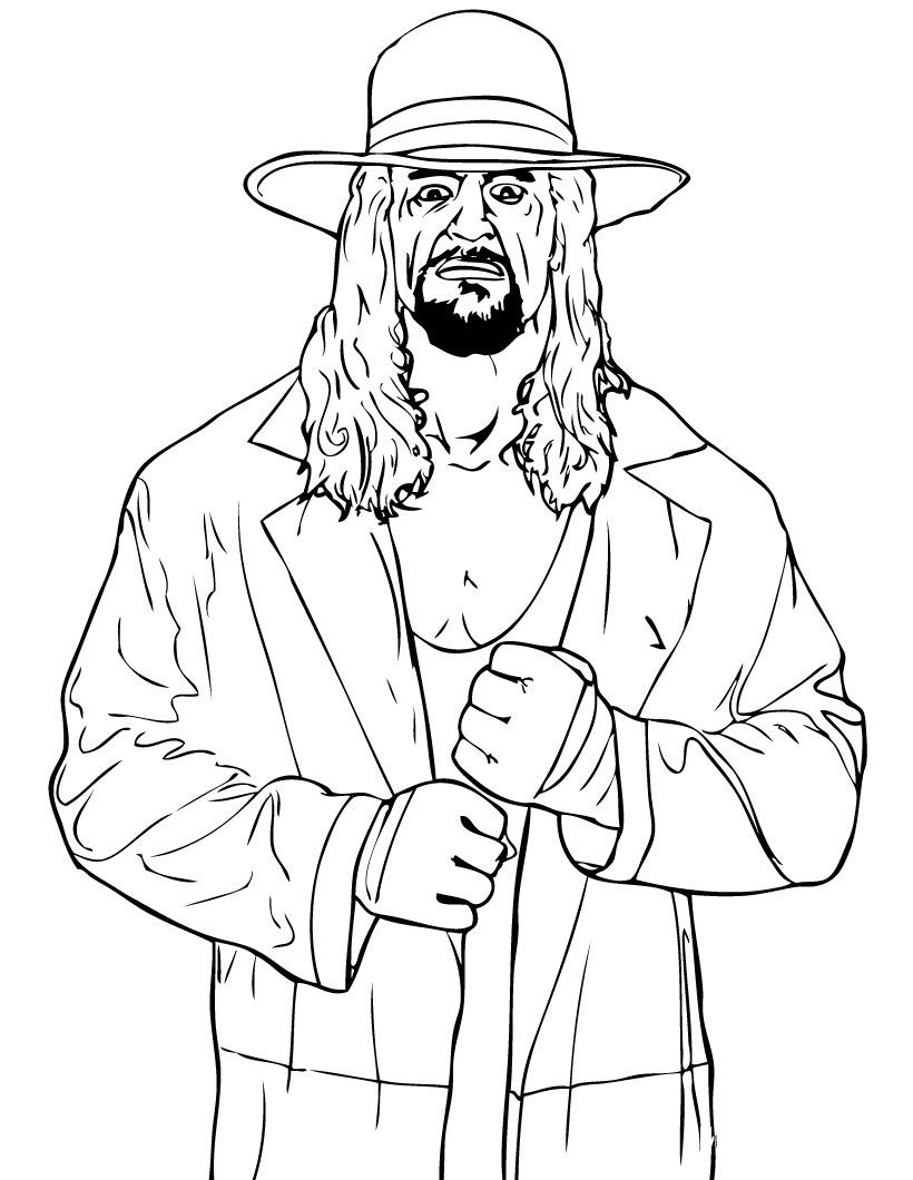 Free Printable Wwe Coloring Pages For Kids In 2020 Wwe Coloring Pages Wwe Party Page Wwe