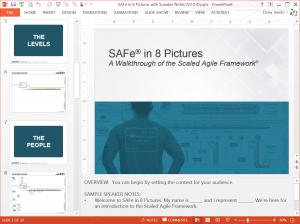SAFe in 8 pictures (PowerPoint slides)