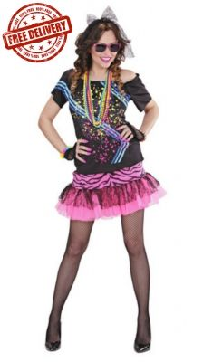 This Fantastic 80 S Rock Girl Costume Is Perfect For Women S 80 S Fancy Dress And Going To An 80 S Themed P 80s Fancy Dress Women 80s Fancy Dress Girl Costumes