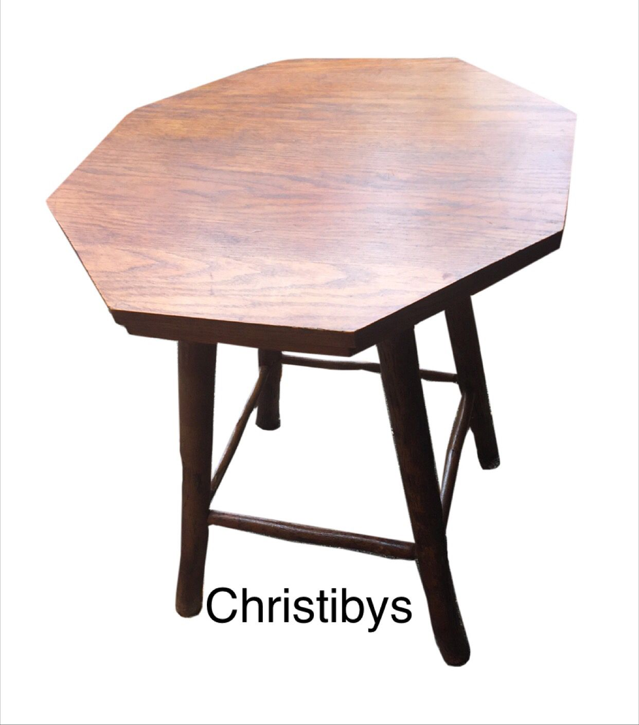 """Early signed Old Hickory octagon side tables ( 25"""" ) from"""