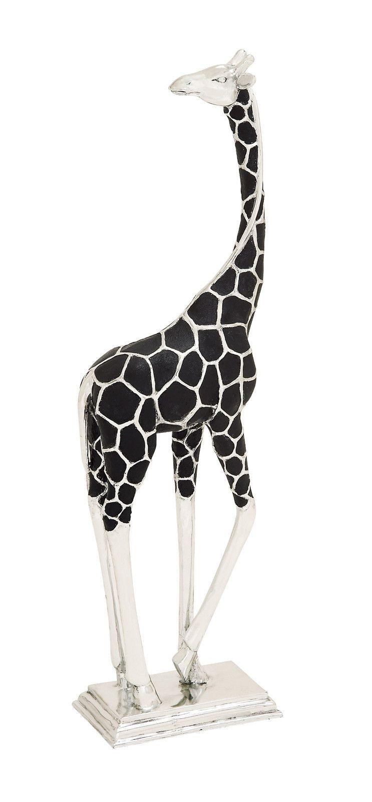 Black Silver Giraffe 37 Quot Tall Statue Figurine African