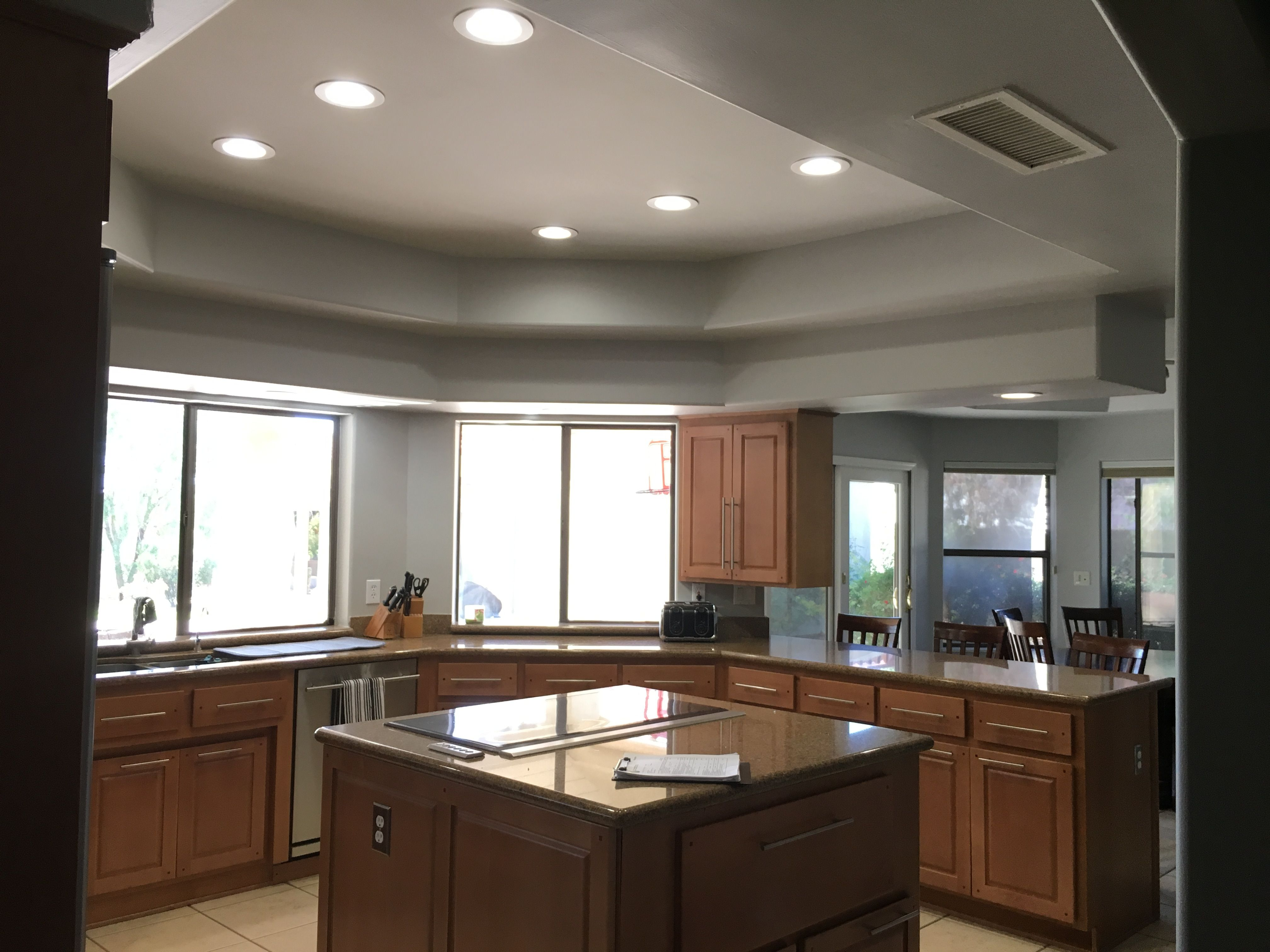 Installed 4000k Led S In A Kitchen With A Dimmer Led Recessed Lighting Led Can Lights Recessed Lighting