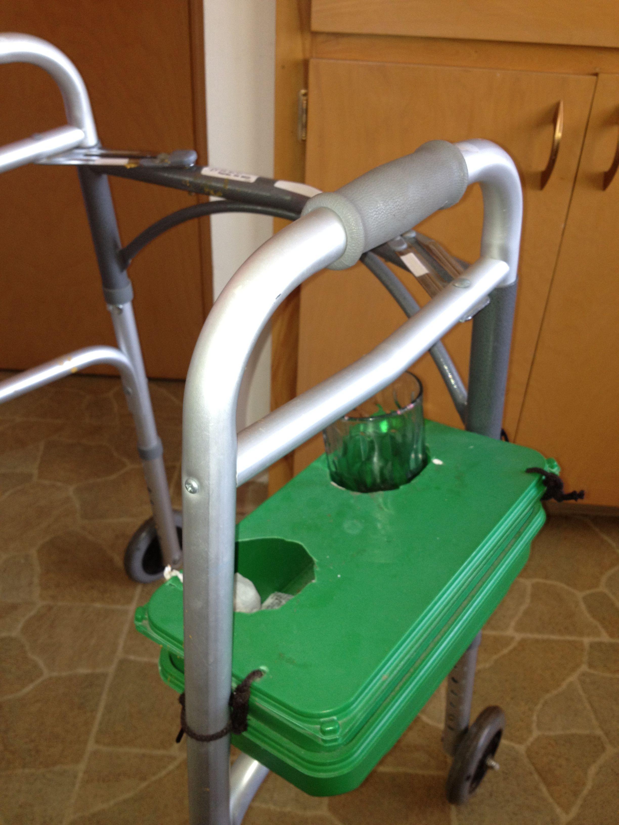 Walker Beverage Carrier Designed By A Home Health Client